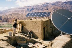 Solar powered BBC FM transmitter in Bamian