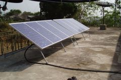 Solar powered FM transmitters at Bo